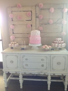 Dessert Table Pink Wedding theme