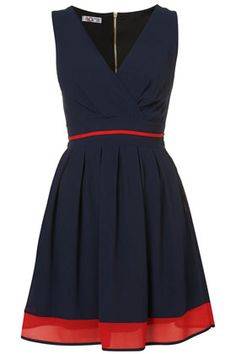 V Neck Chiffon Dress by Wal G
