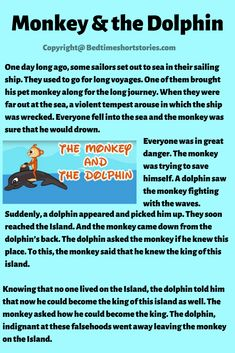 This is one of the best animal stories for kids to read. Read full story in the link above. Kids Stories In English, Small Stories For Kids, Short Stories For Kids, English Story, English Lessons For Kids, Kids English, Stories With Moral Lessons, Moral Stories For Kids, Kids Story Books