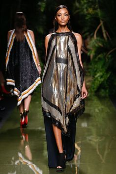 The Balmain army built by Olivier Rousteing is taking a gentler route through nature, summer 17