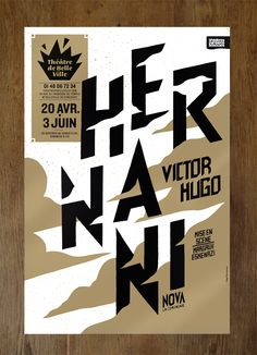"""""""Hernani"""" poster // by Pierre Jeanneau"""