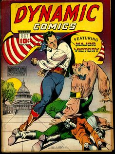 Dynamic Comics #1 (October 1941) - Cover by Charles Sultan