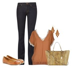 """""""Sip of Cognac"""" by sweetnuff ❤ liked on Polyvore featuring J Brand, Pinko, Franco Sarto, Valentino and Blu Bijoux"""