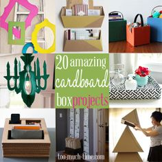 You won't believe the amazing things you can do with cardboard boxes!