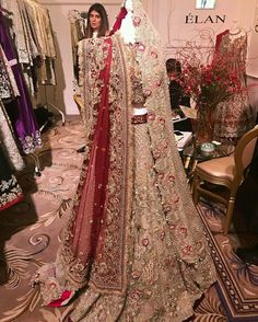 new wedding trail anarkali gown lengha lehenga Indian red zardosi work Pakistani Bridal Couture, Pakistani Wedding Outfits, Indian Bridal Lehenga, Indian Bridal Outfits, Pakistani Dresses, Indian Dresses, Glam Look, Bridal Dress Design, Indian Fashion