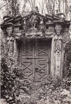 A gate at Château Raray, France (filming location of Cocteau's La Belle et la Bete)