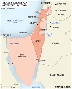 Recognition of israel and palestine world map maps pinterest israels territorial expansion after the 1967 war gumiabroncs Image collections