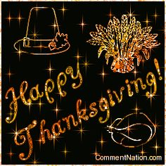 Happy Thanksgiving Stars Image: Graphic Comment Meme or GIF