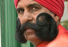 A screenshot from the documentary, 'The Changing Face of India,' about the history and culture of the Indian moustache and the effects of modernization on it. Watch this great clip from the film. (William Hartley /Flickr)
