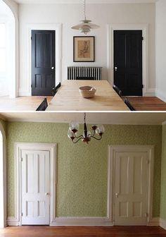 benjamin moore pale oak walls looks great with white trim living space pinterest. Black Bedroom Furniture Sets. Home Design Ideas