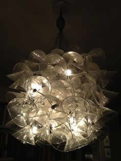 Martini glass chandelier, spotted whilst sipping a glass of it.