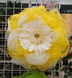 Kayla@michaels lisbon ct Spring flower deco mesh wreath