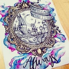Ideas Tattoo Harry Potter Hogwarts Nerd For 2019 Harry Potter Tattoos, Arte Do Harry Potter, Harry Potter Drawings, Harry Potter Love, Harry Potter Universal, Harry Potter Fandom, Harry Potter World, Harry Potter Painting, Harry Potter Notebook