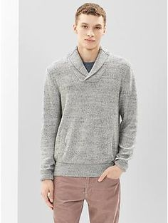 Marled shawlneck sweater   Gap 60