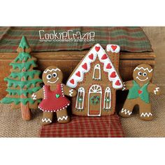 Gingerbread people and house