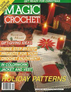 Magic+Crochet+Magazine+October+1991+Christmas+Holidays+Crochet+Patterns+Lampshades