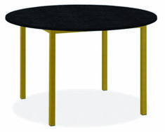 Modern Pratt Round Table in Metal 36 diameter in Black Granite Dining Table, Black Glass Dining Table, Dining Buffet, Dining Table Design, Modern Dining Table, Dining Table Chairs, Round Dining Table, Round Tables, A Table