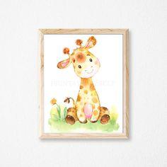 Giraffe Nursery Print. Giraffe Print. Nursery Print. Nursery