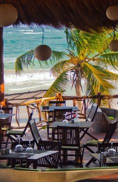 Located on one of the best beaches in Tulum, the laid-back hotel is far from the crowds of Cancún and Playa del Carmen