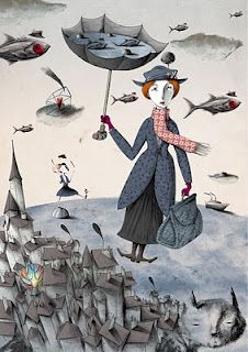 Mary Poppins, I felt like Mary Poppins last friday, the wind 80km almost blew away! It was very scary.