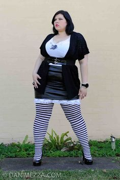 Curvy Plus Size Fashion OOTD - wow, I don't ever remember seeing you rock this look. Hot alternative chicky babe!