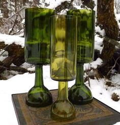 Sostenedores de vela de la botella de vino de por RogueFarms