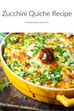 Healthy Breakfast Recipes, Easy Dinner Recipes, Easy Meals, Healthy Recipes, Zucchini Quiche Recipes, Egg Dish, Fresh Vegetables, Herb Garden, Stuffed Peppers