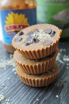 Sunbutter Cups with Dark Chocolate & Hemp Seeds – Vegan & Gluten Free