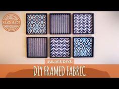 DIY Framed Fabric Gallery Wall - HGTV Handmade - YouTube