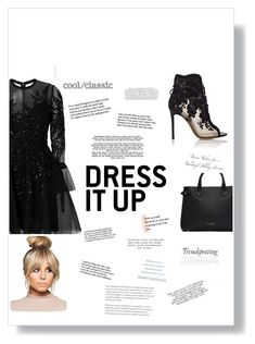 """""""Untitled #81"""" by stefygeorgescu on Polyvore featuring Gianvito Rossi, Elie Saab and Burberry"""