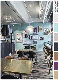 Charmant Turquise And Wood Brown Interior Color Palette, Rustic Wood Floor, Light  Turquoise Accent Wall