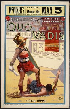 Neat old Quo Vadis movie poster.
