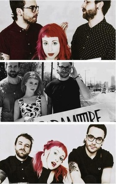 Paramore. Hayley, Taylor and Jeremy