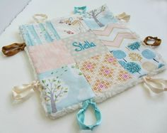 Baby Lovey Girl Blanket with Custom Hand Embroidery by dolcedreams custom baby gifts personalized hand embroidered baby blankets quilts and loveys