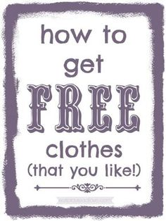 Free Samples By Mail, Free Stuff By Mail, Get Free Stuff, Cheap Clothes, Free Clothes, Freebies By Mail, Clothing Swap, Love Tag, Free Deals