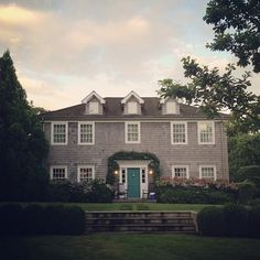 habituallychic:  New dream house…minus the cooler on the porch. #hamptons