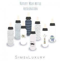 Sims4Luxury: Nursery milk bottle recolor • Sims 4 Downloads