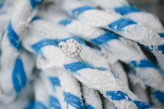 What a nautical way to display some serious bling! | Britt Croft Photography
