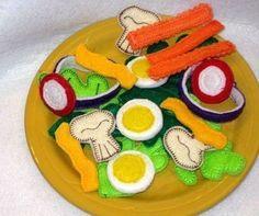 Play food felt salad