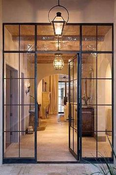 puerta hierro , mampara ,vidrio repartido ,estilo vintage ¡¡