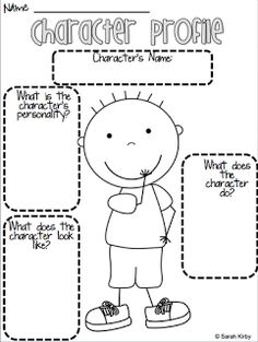 Homeschool Giveaways and Freebies ~ FREE Reading Resources: Character Profile Printables | Homeschool Giveaways