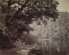 Photograph of the lake in Naini Tal, taken by Samuel Bourne in the 1860s. According to legend, Nainital takes its name from the Hindi word for eye as it is said to be the spot at which Sati's (Parvati) eye fell to earth and is one of the 64 Peethas, or sacred pilgrimage sites in India, dedicated to that goddess, who is worshipped at the Naina Devi Temple, situated at the northern end of the lake. The British Library
