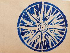 Compass.  Make stencil.