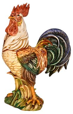 One Kings Lane - Happy Hearth - Antique Italian Ceramic Rooster