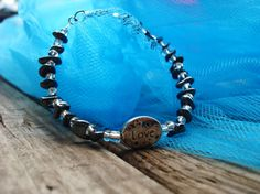 Hematite Bracelet by LightedLights on Etsy, $16.89