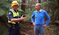Former Greens leader Bob Brown during a community protest over logging in northwest Tasmania.