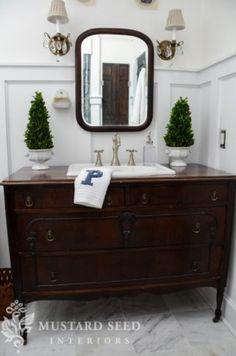 Turn A Vintage Dresser Into Bathroom Vanity : Decorating HGTV (miss Mustard Seed) Vanities Style