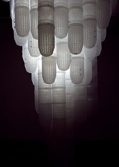 "wolfgang stiller ""Deceive"" 2012, plastic shrimp traps, Lights, installation at PingPong art space Taiwan"