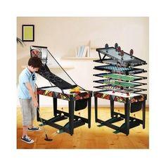 Multi-Game-Table-Sports-Kids-Indoor-Air-Hockey-Basketball-Shooting-Football-Golf