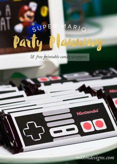 Free Super Mario Printables. Nintendo Wrapper Free Printable.